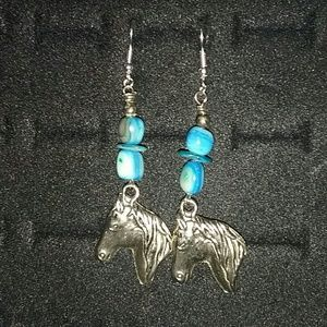 handmade horse earrings